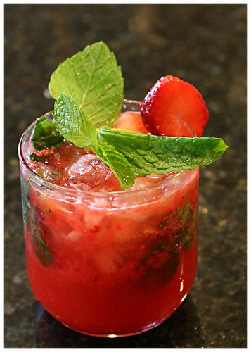 strawberry mojito, cocktails