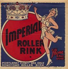 Imperial Roller Rink - Portland, Oregon (The Cardboard America Archives) Tags: oregon vintage portland sticker label imperial rollerskating rollerrink skateyourdate