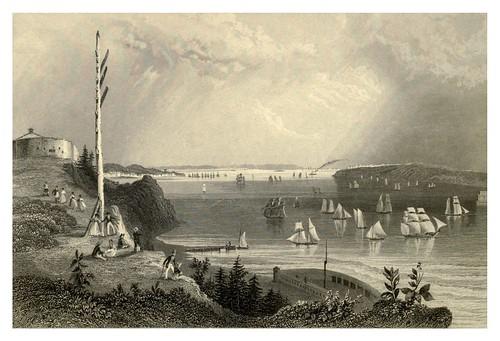 001-Bahia de New York desde la estacion de telefrafos 1840