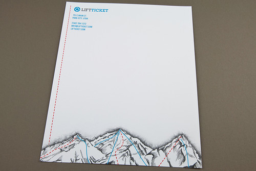 Trendy Snowboard Shop Letterhead