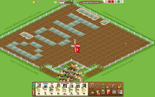 D'OH! spelled with my crops in the Farm Town app on Facebook by spugbrap.