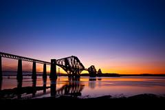 Forth Bridge (scott masterton) Tags: road bridge light sunset seascape reflection feet wet water scott scotland long exposure very pentax scottish rail icon forth getty rf fascinating masterton firth queensferry gloaming sigma1020mm nd400 vle k100d coastuk