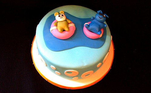 Summer Pool Party Birthday Cake
