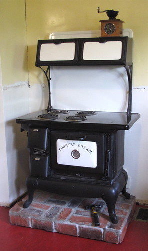 """Country Charm"" stove in our kitchen"