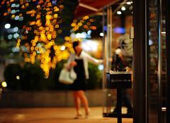 2037/1920*^:+z] (june1777) Tags: street light girl night canon eos cafe bokeh 85mm snap 1600 clear e seoul 5d ef f12 gwanggyo bokehlicious