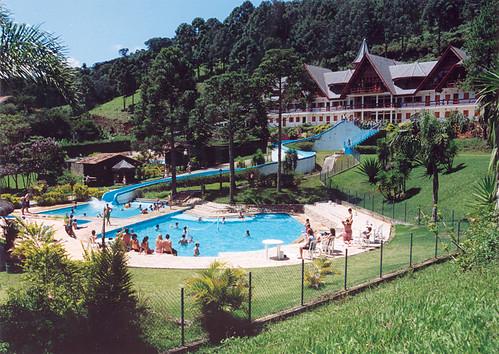 Vista para as piscinas