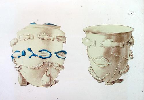 019- Jarras de vidrio con peces en relieve halladas en las catacumbas-La Roma sotterranea cristiana - © Universitätsbibliothek Heidelberg