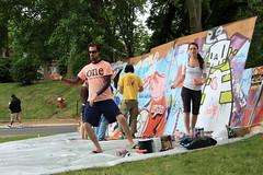 conscious cycle @ figment (Luna Park) Tags: nyc streetart ny newyork cake festival graffiti dancing arts cycle lunapark cdamage figment taichi rwk governorsisland artfair robotswillkill conscious paintjam consciouscycle ceito figment2009