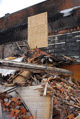 (fotohayes) Tags: aftermath bozeman downtown explosion cleanup 2009 naturalgas brianhayes northwesternenergy