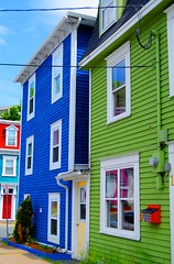 Colorful Mailbox on Colorful House (maloncr) Tags: newfoundland stjohns colorfulhouses downtownstjohns