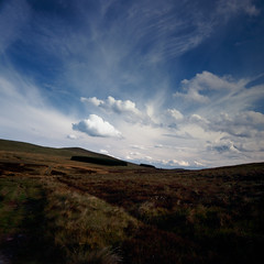 The Moors in Summer (jamalrob) Tags: sky 120 film clouds zeiss landscape 50mm scotland fuji tl slide jena hills carl transparency medium format flektogon pentacon moor six provia lothian pentlands 100f reversal czj