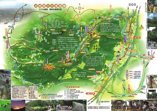苗栗挑炭古道賞桐地圖
