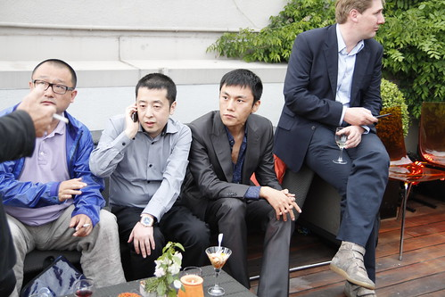 Chinese filmmakers Wang Xiaoshuai, Jia Zhangke and actor Qin Hao