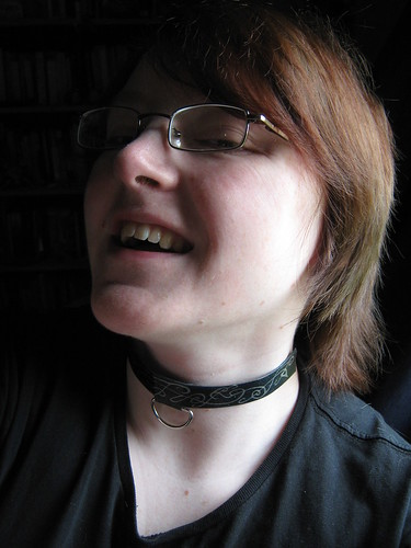 Black & silver D-ring choker