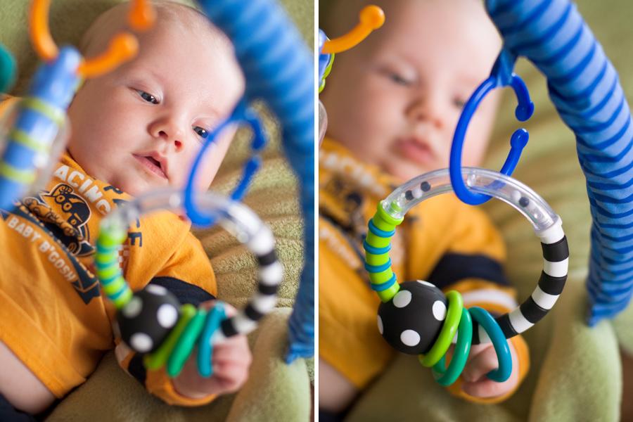 Ephram grabs his toy!