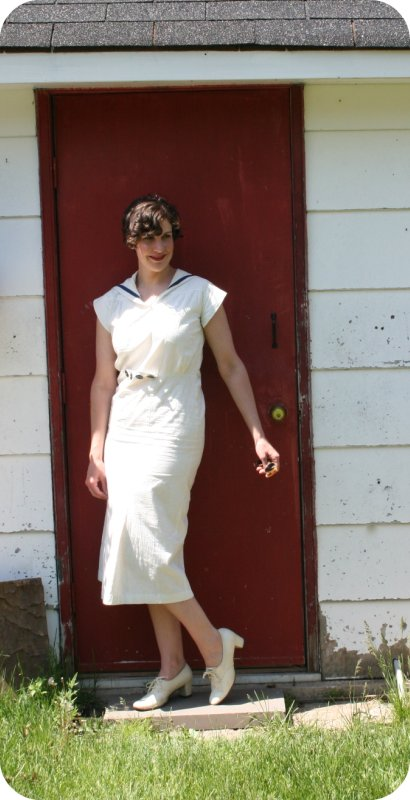 1930s Flour Sack Sailor Dress