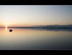 Good Morning... (ChewingMountain) Tags: sun mountain lake water sunrise switzerland geneva a300