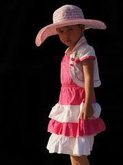 Yangon - Girl with hat (sharko333) Tags: people girl hat child yangon burma myanmar birma rangoon