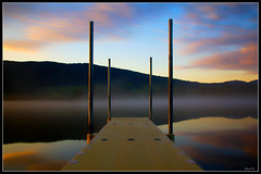 Serenity (Arnaud D...) Tags: longexposure sky cloud mountain france color colour reflection water clouds montagne sunrise canon landscape eos cloudy lac sigma reflet ciel jura nuage paysage couleur magicmoment nuageux nd400 poselongue 550d lesrousses borderfx canoneos550d rebelt2i