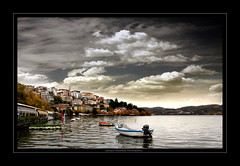 The lake of Kastoria,Western Macedonia,Greece