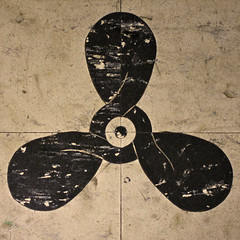 Propellor tiles (Natashatashtash) Tags: ship brisbane naval brisbanemeetup hmasdiamantina