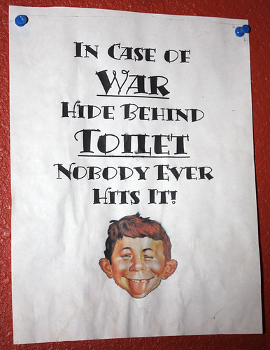 My bathroom sign