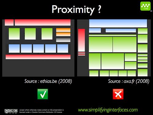 Gestalt - Proximity example