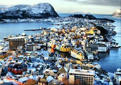 Happy Miniature Sunday! (larigan.) Tags: winter snow reflections miniature lesund aalesund tiltshift tiltshift12 fakeeffect abigfave anawesomeshot larigan phamilton licensedwithgettyimages