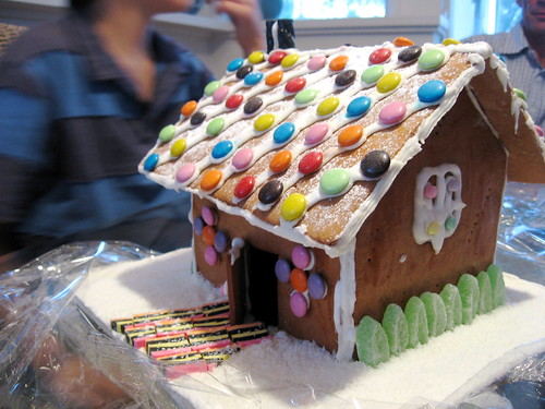 the birthday gingerbread house