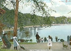1909 Queens Park Glasgow Scotland model yacht pond (oldsailro) Tags: park old boy sea summer people sun lake playing beach water pool girl sunshine youth sailboat race vintage children fun toy scotland boat miniature wooden pond model waves sailing ship child time yacht antique group racing boom mat queens regatta hull spectators watercraft glascow gir 1909 adolescence keel fashioned