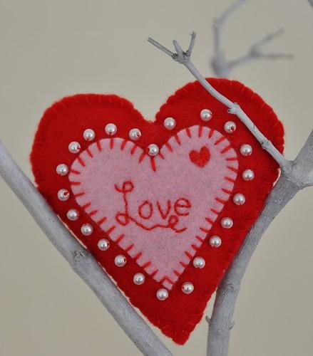 valentine heart. Handmade Felt Valentine Heart
