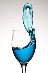 Drinking Problem (Xenedis) Tags: blue glass liquid splash wineglass stilllife newsouthwales nsw australia