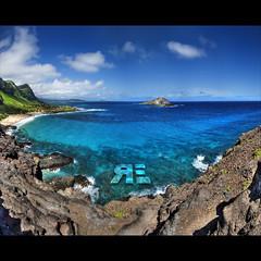 Move Aside Vertoramas... (Ryan Eng) Tags: ocean sea panorama seascape landscape hawaii oahu turquoise bluewater dri hdr sigma1020mm makapuulighthouse nikond90 vertorama ryaneng ryausting