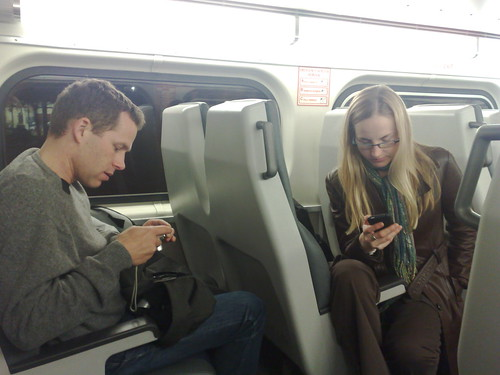 Skipping a beat on the Caltrain ride to San Francisco