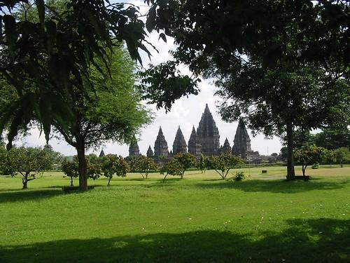 Prachtig zicht op Prambanan