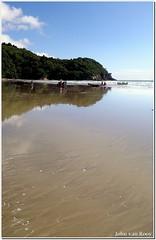 Waihi Beach Vertorama (JayVeeAre (JvR)) Tags: camping sea newzealand beach nature water clouds reflections landscape boats sand surf bluesky olympus aotearoa coromandelpeninsula bayofplenty olympusc740uz waihibeach vertorama johnvanrooygmailcom copyright2009johnvanrooy bowentownweekend waitangiweekend2009