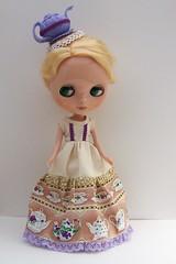 Has anyone seen the teapot? (carousel.girl) Tags: fashion handmade blythe teaparty dollygosh