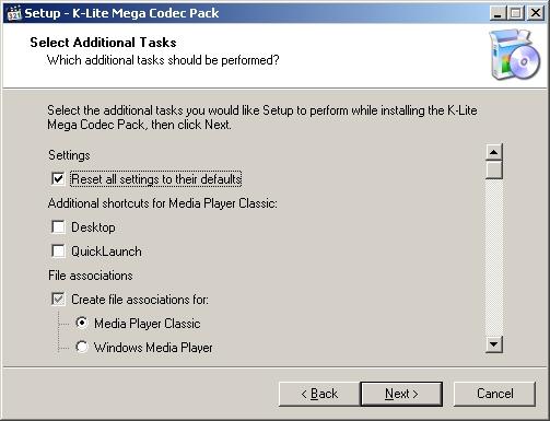 Instalando K-lite Mega Codec Pack - Tela 6