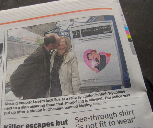Kissing Welcome at High Wycombe Station