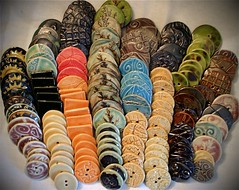 Buttons: Load Two (la_v_i_k_a) Tags: california ceramic de buttons fresno porcelain cermica stoneware botones stitcheswest ceramicbutton studiobutton buttoncollection handmadeceramicbutton studiobuttons handmadeporcelainbuttons sewingbutton studionbuttons