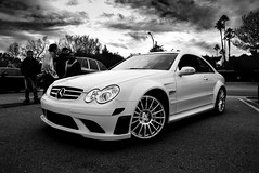 CLK BLACK (j.hietter) Tags: white black car mercedes benz angle 63 whole exotic german series supercar amg clk wholecar frontangle