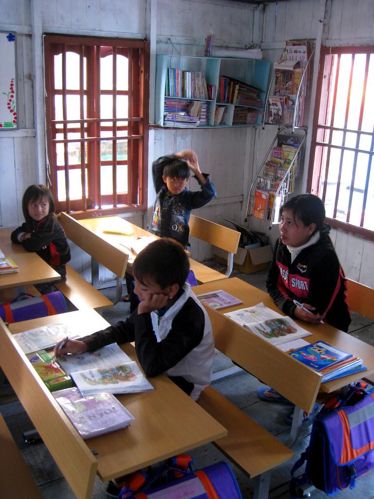 Ecole dans un village de pêcheurs