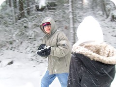 Snowball Fight! (Marionberries) Tags: winter snow cold fight december play greg kelsey
