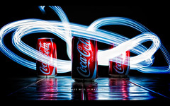 The Stars Will Always Shine (isayx3) Tags: lighting light wallpaper painting nikon long exposure cola vibrant coke soda cocacola 365 nikkor timed d40 1855vr