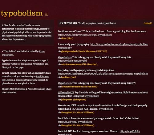 Typoholism