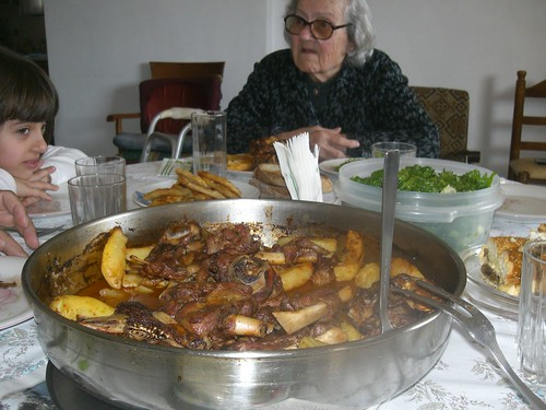 goat roast cooked by 85-year-old yiayia