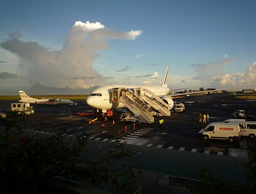 Early Morning Light on Air France 777 at Papeete