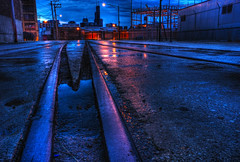 Riding the rails (kern.justin) Tags: railroad chicago tower island twilight nikon sears goose chicagoist twtmeiconoftheday d700 kernjustin wwwthewindypixelcom