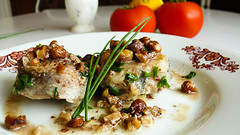 Hake with Hazelnut Sauce