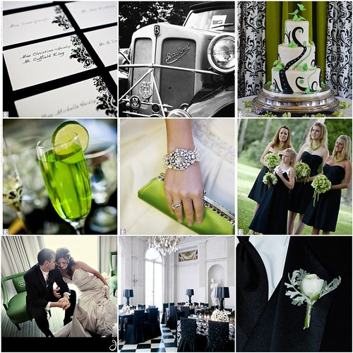 Black, White & Green Inspiration Board por shopangelica.